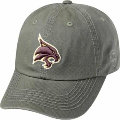 トップオブザワールド Top of the World メンズ キャップ 帽子 Texas State Bobcats Grey Crew Washed Cotton Adjustable Hat