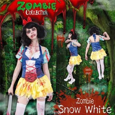 コスプレ衣装/コスチューム 〔Snow White ゾンビ白雪姫〕 ポリエステル 『ZOMBIE COLLECTION Zombie』 〔ハロウィン〕