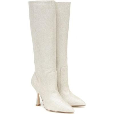 スチュアート ワイツマン Stuart Weitzman レディース ブーツ シューズ・靴 parton embellished knee-high boots Platino