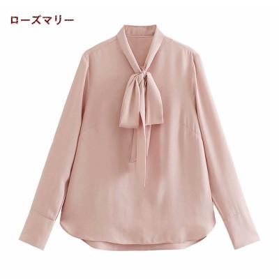 ローズマリー 欧米風2021 1月 春 新品販売  ゆったりシャツ 長袖シャツ リードシャツと上着 トップス  ベーシック   無地  シンプル  2101381