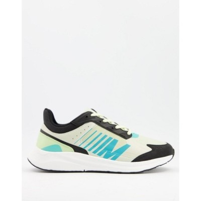 エイソス メンズ スニーカー シューズ ASOS DESIGN sporty running sneakers in multi Multi