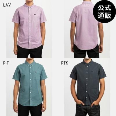 【OUTLET】【送料無料】2019 RVCA ルーカ メンズ THAT'LL DO BUTTER ショートスリーブシャツ 全3色 S/M/L rvca