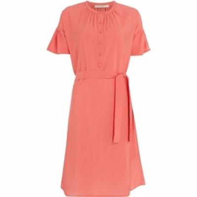 セッスン Sessun レディース ワンピース ワンピース・ドレス Charles harper belted dress with flounce sleeve Pink