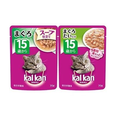 セット買いカルカン パウチ スープ仕立て 高齢猫用 15歳から まぐろ 70g×16袋 (まとめ買い) キャットフード & パウチ 高齢猫用