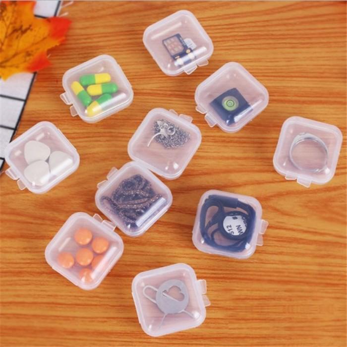 透明塑料小方盒 首飾盒 耳塞盒 pp迷你收納盒  魚鉤收納盒 戒指盒 耳環盒【滿額送】【台灣現貨】