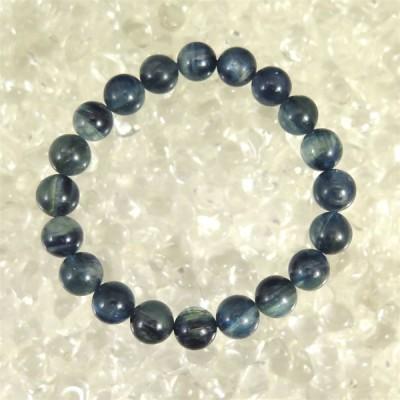 カイヤナイト 藍晶石 4A+グレード 10mm玉ブレスレット 39.5g 【榎本通商64320】