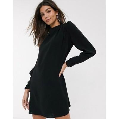 リバーアイランド レディース ワンピース トップス River Island satin swing dress in black