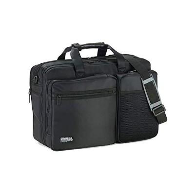 ビジネスバッグ メンズ 3way 大容量 軽量 出張 A4 B4 自立  ショルダーベルト キャリーオン マチ拡張 2室 多機能 横幅45cm 平野鞄