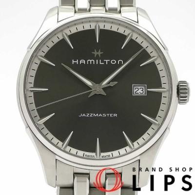 ハミルトン ジャズマスター メンズ時計オートマチック H32451181 SS グレー文字盤 仕上げ済 美品