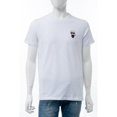 カールラガーフェルド Tシャツ 半袖 丸首 クルーネック メンズ 755027 502221 ホワイト 2020年秋冬新作 KARL LAGERFELD