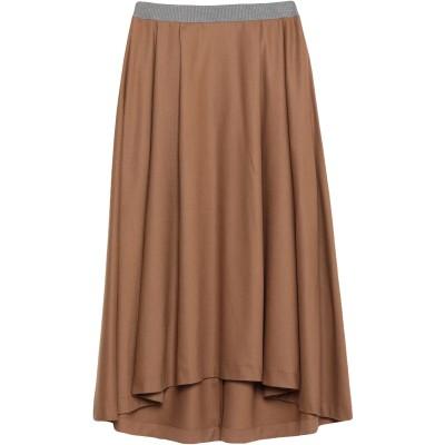 ファビアナフィリッピ FABIANA FILIPPI 7分丈スカート キャメル 42 ウール 90% / カシミヤ 8% / ポリウレタン 2% /