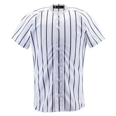 DESCENTE ヤキュウ ソフト ユニフォームシャツ フルオープンシャツ(ワイドストライプ) 16SS SWNV ヤキュウユニホーム(db6000-swnv)