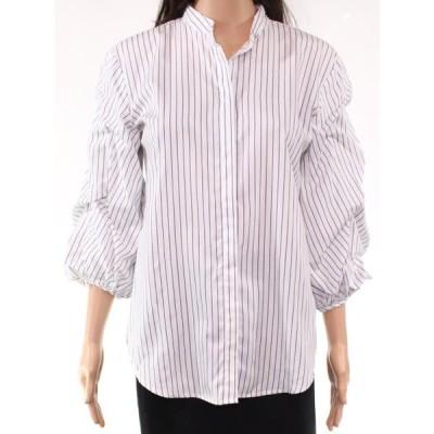 レディース 衣類 トップス Womens Top Large Button Down Striped L ブラウス&シャツ