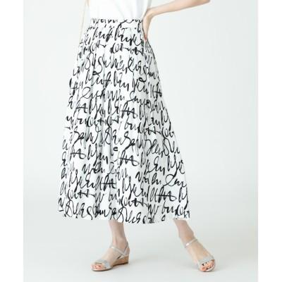 【アルアバイル/allureville】 グラフィティプリントタックスウィングスカート