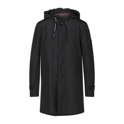 アレッサンドロデラクア ALESSANDRO DELL'ACQUA コート ブラック 50 ポリエステル 100% コート