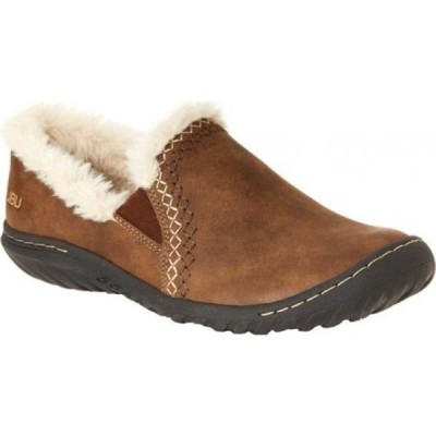 ジャンブー Jambu レディース スリッポン・フラット シューズ・靴 jbu willow slip on Brown Brushed Vegan/Textured Wool