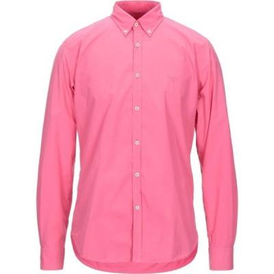 バブアー BARBOUR メンズ シャツ トップス solid color shirt Fuchsia