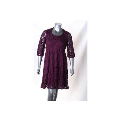 INGO ドレス ワンピース フォーマル INGO レディース ドレス Tea ドレス 2X パープル ナイロン Original Regular LAFO