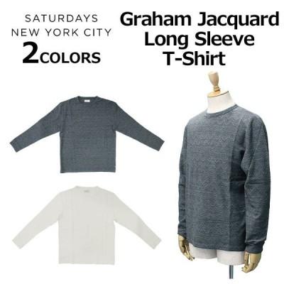 SATURDAYS NYC サタデーズ サーフ ニューヨークシティ Graham Jacquard Long Sleeve T?Shirt グラハム ジャガード ロング スリーブ Tシャツ  M31811GM