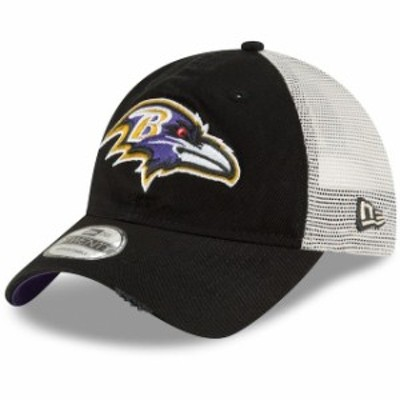 New Era ニュー エラ スポーツ用品  New Era Baltimore Ravens Black Stated Back Trucker 9TWENTY Adjustable Hat