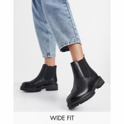 ルールロンドン Rule London レディース ブーツ チェルシーブーツ チャンキーヒール シューズ・靴 wide fit leather chunky chelsea boot