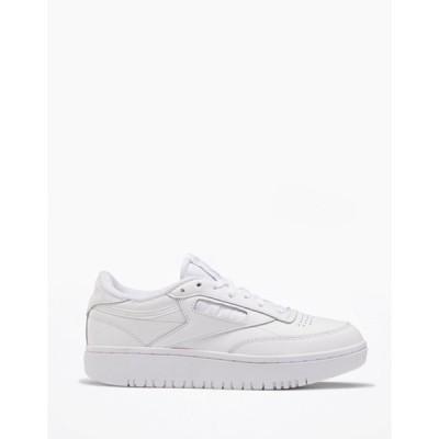 リーボック レディース スニーカー シューズ Reebok Club C Double sneakers in white White