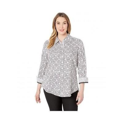 Foxcroft レディース 女性用 ファッション ブラウス Plus Ava Tile Print - Multi