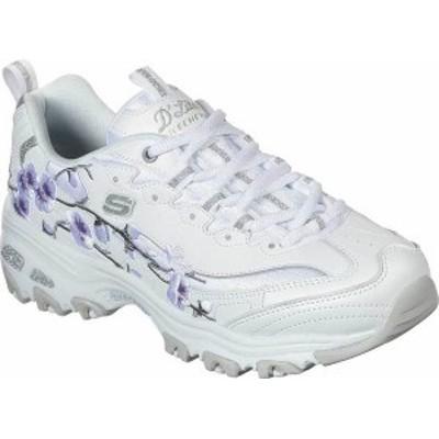 スケッチャーズ レディース スニーカー シューズ Women's Skechers D'Lites Soft Blossom Sneaker White/Lavender