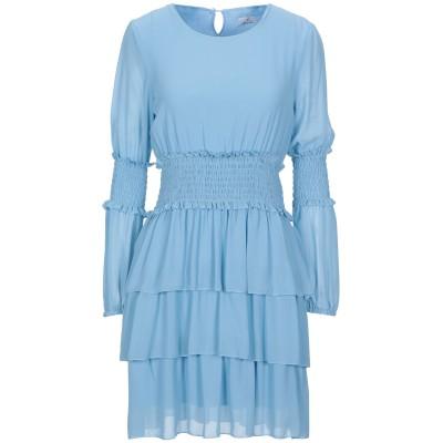 ベルナ BERNA ミニワンピース&ドレス スカイブルー S ポリエステル 100% / レーヨン / ポリウレタン ミニワンピース&ドレス