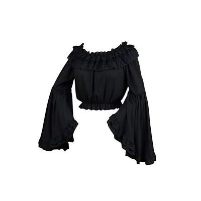 FERE8890 ブラウス ゴスロリ レディース ロリータ ワンピースのインナー シャツ 長袖 姫袖 姫系 洋服 ショート丈 トップス ゴシ