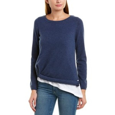 525アメリカ レディース ニット&セーター アウター 525 America Layered Asymmetrical Cashmere Sweater dark denim