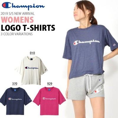 半袖 Tシャツ チャンピオン Champion レディース T-SHIRT ロゴ シュート丈 クルーネック スポーツ 22%OFF CW-PS313