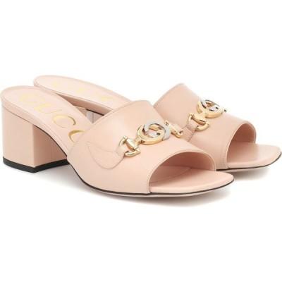 グッチ Gucci レディース サンダル・ミュール シューズ・靴 Zumi 55 leather sandals Skin Rose
