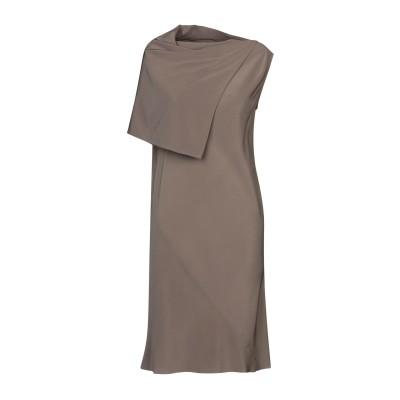 リック オウエンス RICK OWENS ミニワンピース&ドレス カーキ 42 シルク 100% ミニワンピース&ドレス