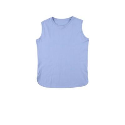 裾ラウンドノースリーブTシャツ