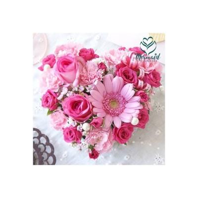 花 ギフト お祝い 可愛い ハート 型 フラワーケーキ アレンジ 結婚記念日 お祝い 記念日 ギフト プレゼント お祝い 送料無料