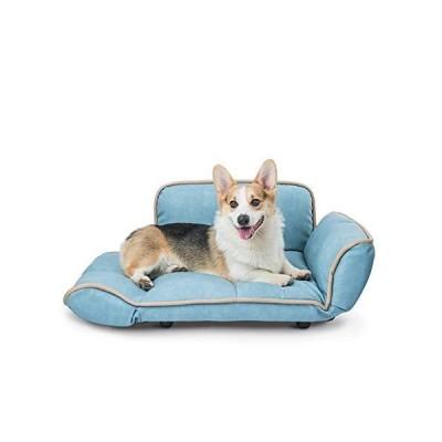 BJL Kennel, Dog Bed pet House pet Sofa Bed Large Dog Summer Dog (3 Colors) pet Bed (Color : Blue)並行輸入品