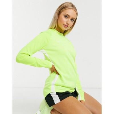 ナイキ レディース カットソー トップス Nike Soccer academy long sleeve top in green Green