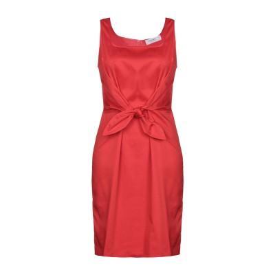ANNA RACHELE ミニワンピース&ドレス レッド 44 コットン 97% / ポリウレタン 3% ミニワンピース&ドレス