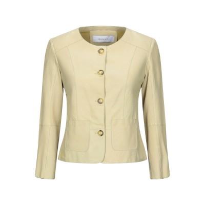 BULLY テーラードジャケット イエロー 44 羊革(ラムスキン) 100% テーラードジャケット