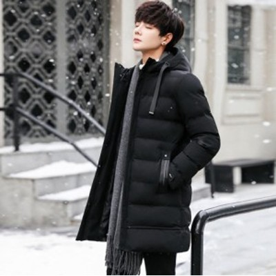 中綿コート メンズ ロングコート ダウンジャケット ダウンコート アウター フード付き 保温 ビジネスジャケット 暖かい 防寒 通学