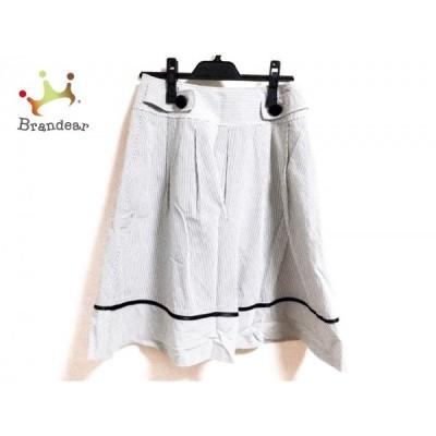 ギャラリービスコンティ GALLERYVISCONTI スカート サイズ2 M レディース 黒×白 ストライプ   スペシャル特価 20200401