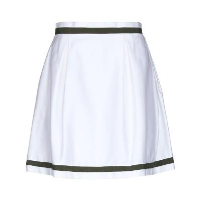 PETER A & CHRONICLES ひざ丈スカート ホワイト 44 コットン 96% / ポリウレタン 4% ひざ丈スカート
