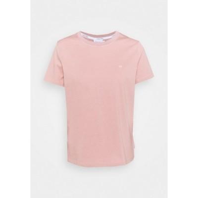 カルバンクライン Tシャツ レディース トップス SMALL LOGO EMBROIDERED TEE - Basic T-shirt - muted pink