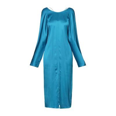 メルシー ..,MERCI 7分丈ワンピース・ドレス アジュールブルー 38 レーヨン 95% / ポリウレタン 5% 7分丈ワンピース・ドレス