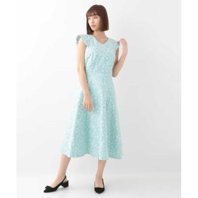 【タラジャーモン】 メタルジャガードドレス レディース グリーン M Tara Jarmon