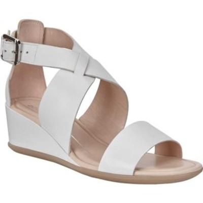 エコー レディース サンダル シューズ Shape 35 Wedge Sandal Bright White Calf Leather