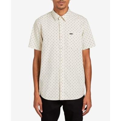 ボルコム シャツ トップス メンズ Men's Hallock Short Sleeve Shirt White Flash