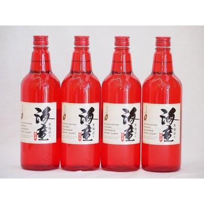 黒麹造り 海童 祝い赤 本格芋焼酎 濱田酒造(鹿児島県)720ml×4本