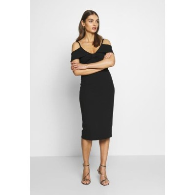 レディース ドレス BARDOT WITH BOW - Cocktail dress / Party dress - black